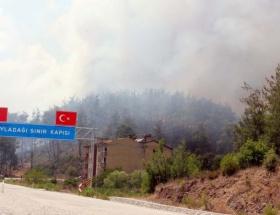 Sınırdaki yangın Türkiyeye sıçradı