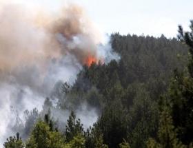 Helikopterli kurtarmada orman yangını çıktı
