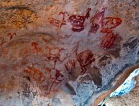 8 bin yıllık kaya resimleri tahrip edildi