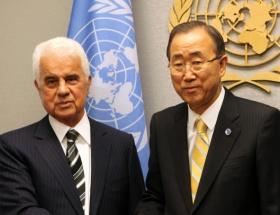 Eroğlu, Ban Ki Moon ile görüştü