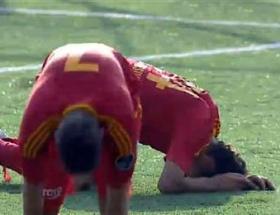 Sporcuların ayağı kırılınca, kurban kestiler