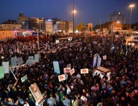 Taksimde tezkere protestosu