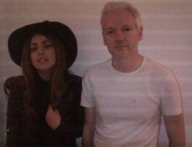 Assangeın misafiri Lady Gaga