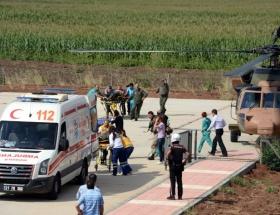Licede askeri helikopter düştü: 1 şehit