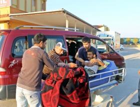 Suriyeli 10 yaralı Türkiyeye getirildi