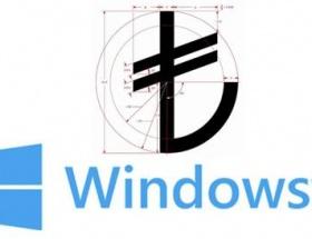 Windowstan TL simgesi güncellemesi