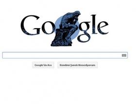 Google Auguste Rodini unutmadı
