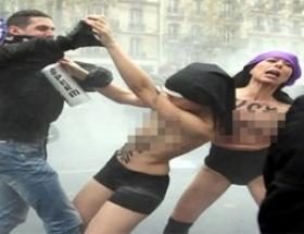 FEMEN kızları dayak yedi