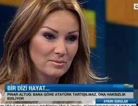 Pınar Altuğ türbandan rahatsız