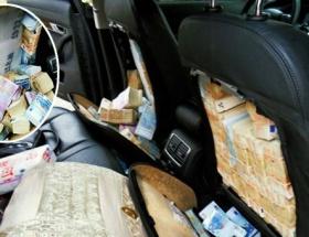 Araba koltuklarından servet çıktı