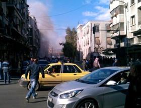 Şamda mülteci kampı vuruldu