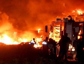 Antalyada dolum tesisinde patlama