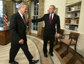 Rumsfeld şimdi yandı