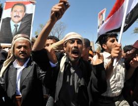 Yemende gösteriye müdahale