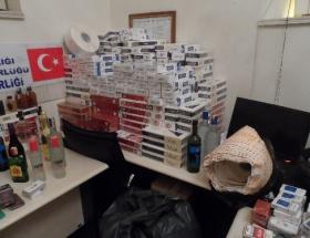 Kaçak içki ve sigara operasyonu