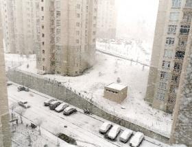 Başakşehirde yoğun kar yağışı