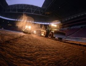 TT Arenada zemin çalışmalarında sona gelindi