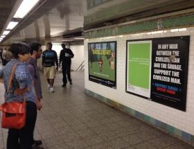 New York metrosunda müslümanlara tepki!