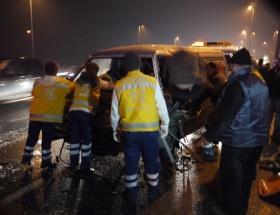 E-5de kaza: 1 ağır yaralı
