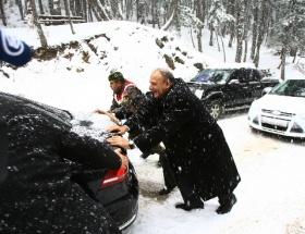 MHPnin Kızılcıhamam kampına kar sürprizi