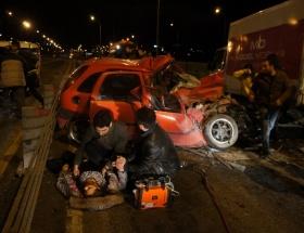 Haliç Köprüsünde zincirleme kaza