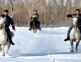 Sınav stresini at sırtında atıyorlar