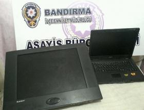Bandırmada üç hırsızlık zanlısı tutuklandı