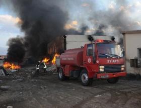 Mimarsinan OSBde fabrika yangını