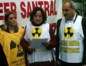 Mersinde nükleer santral eylemi
