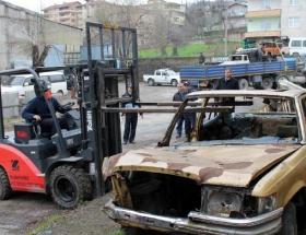 Ereğlide hurda araçlar toplandı