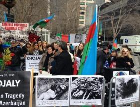 BM önünde Hocalı protestosu