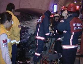 Sarıyer tünelinde kaza