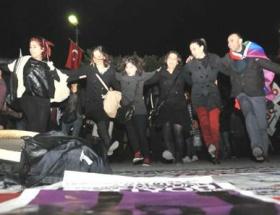 Başkentte kadınlardan gece eylemi