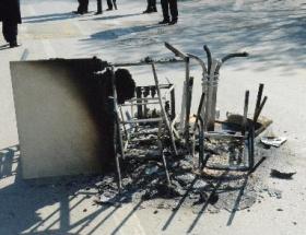 Hacettepedeki zarar polis kamerasında