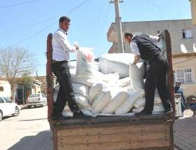 Suriyeli ailelere gıda yardımı yapıldı