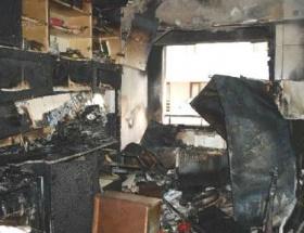 Tartıştığı kız arkadaşının evini yaktı