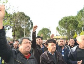 Santral işçilerinden eylem