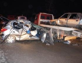 Hendekte trafik kazası: 3 yaralı