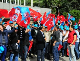 BMC işçilerinden protesto mitingi