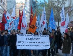 OMÜdeki olaylar protesto edildi