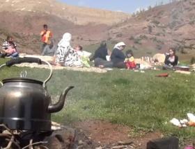 Çatışma bölgesinde piknik keyfi