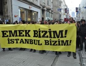 Taksimde Emek protestosu