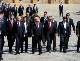 Erdoğan Anıtkabirdeki törenlere katılmadı