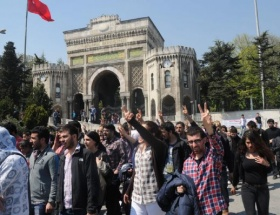 İstanbul Üniversitesinde eylem