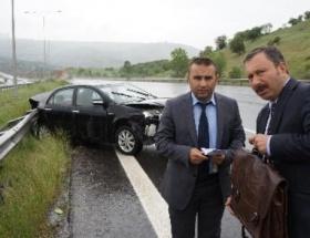 İdris Bal, kaza geçirdi