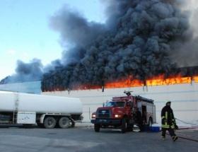 Merinos fabrikasında yangın