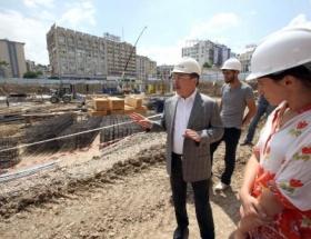 Adana Şehir Meydanı inşaatı sürüyor