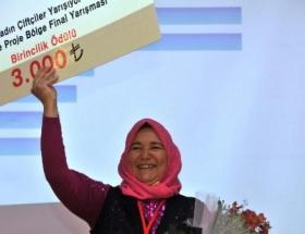 Antalyalı kadın çiftçi birinci oldu