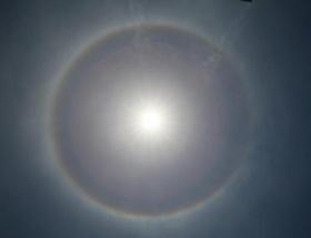 Güneş etrafında ilginç görüntü