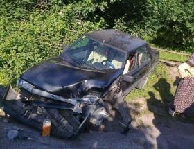 Akyazıda trafik kazası: 1 yaralı
